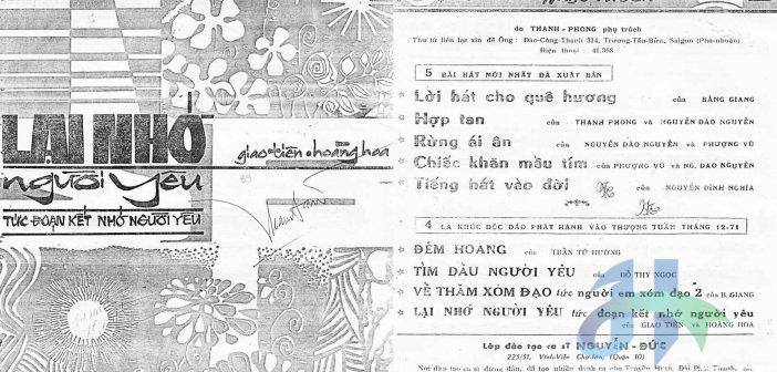 Album Lại Nhớ Người yêu - Nhạc sĩ Giao Tiên