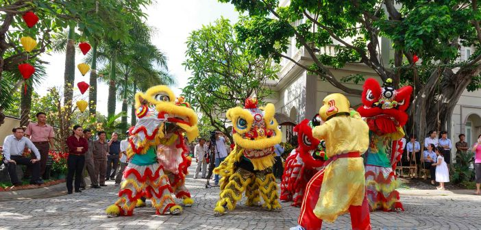 Lion dance is part of many festivals in Vietnam