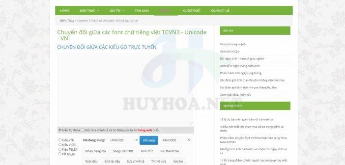 Tìm font chữ online với Bien Thuy Convert Text