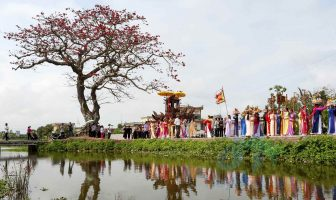 Viillage festival, a traditional cultural feature of Vietnamese countryside
