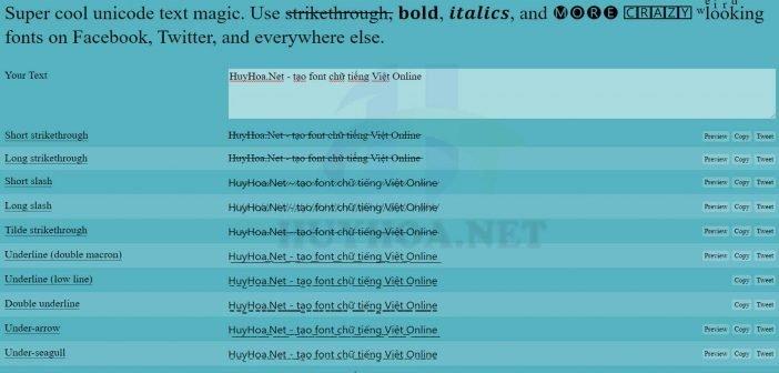 Tạo, thiết kế font chữ online - HuyHoa.Net