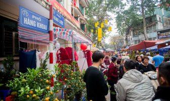 Hang Khoai street next to hang luoc