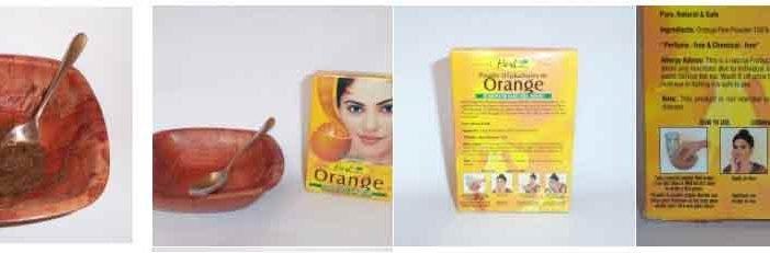 The ultimate face mask using orange peel powder