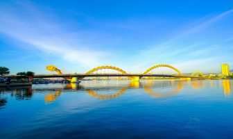 The Dragon Bridge is a bridge with a dragon over the Han River at Da Nang, Vietnam.