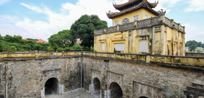 Doan Mon is one of the main entrances to the Forbidden City of Imperial Citadel of Thang Long