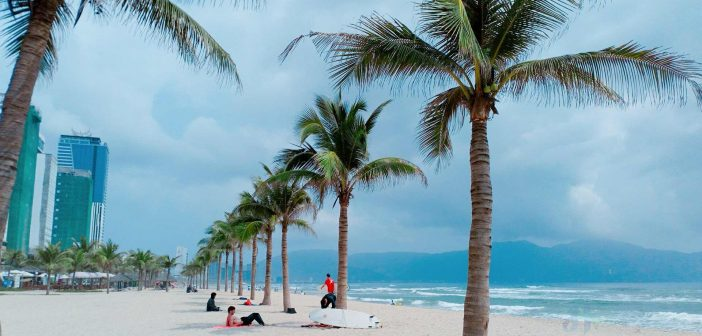 My Khe beach is an excellent tourist destination off shores of Danang