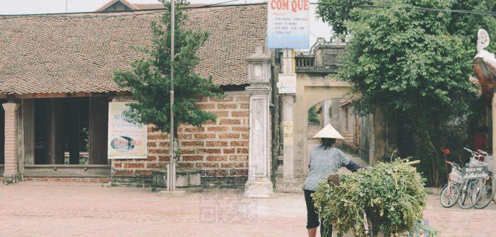 Hình ảnh cổng làng và đình làng sau thời dổi mới