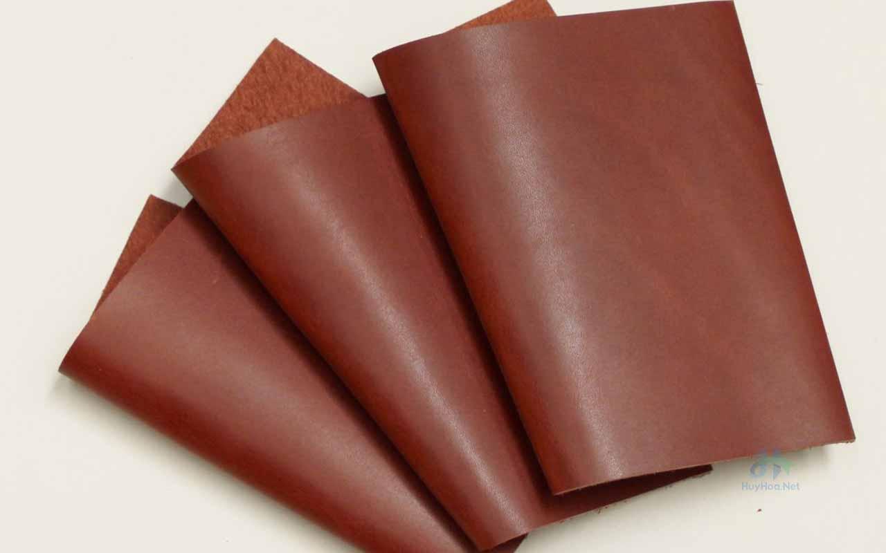 Corrected-grain leather