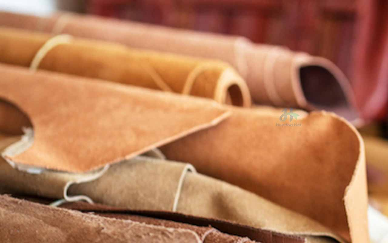 Types of the actual tanning process, which create numerous types of leather;