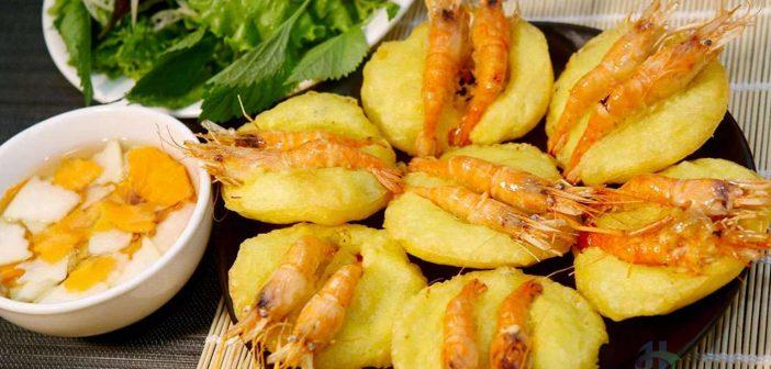 Shrimp cake - Bánh tôm Hồ Tây