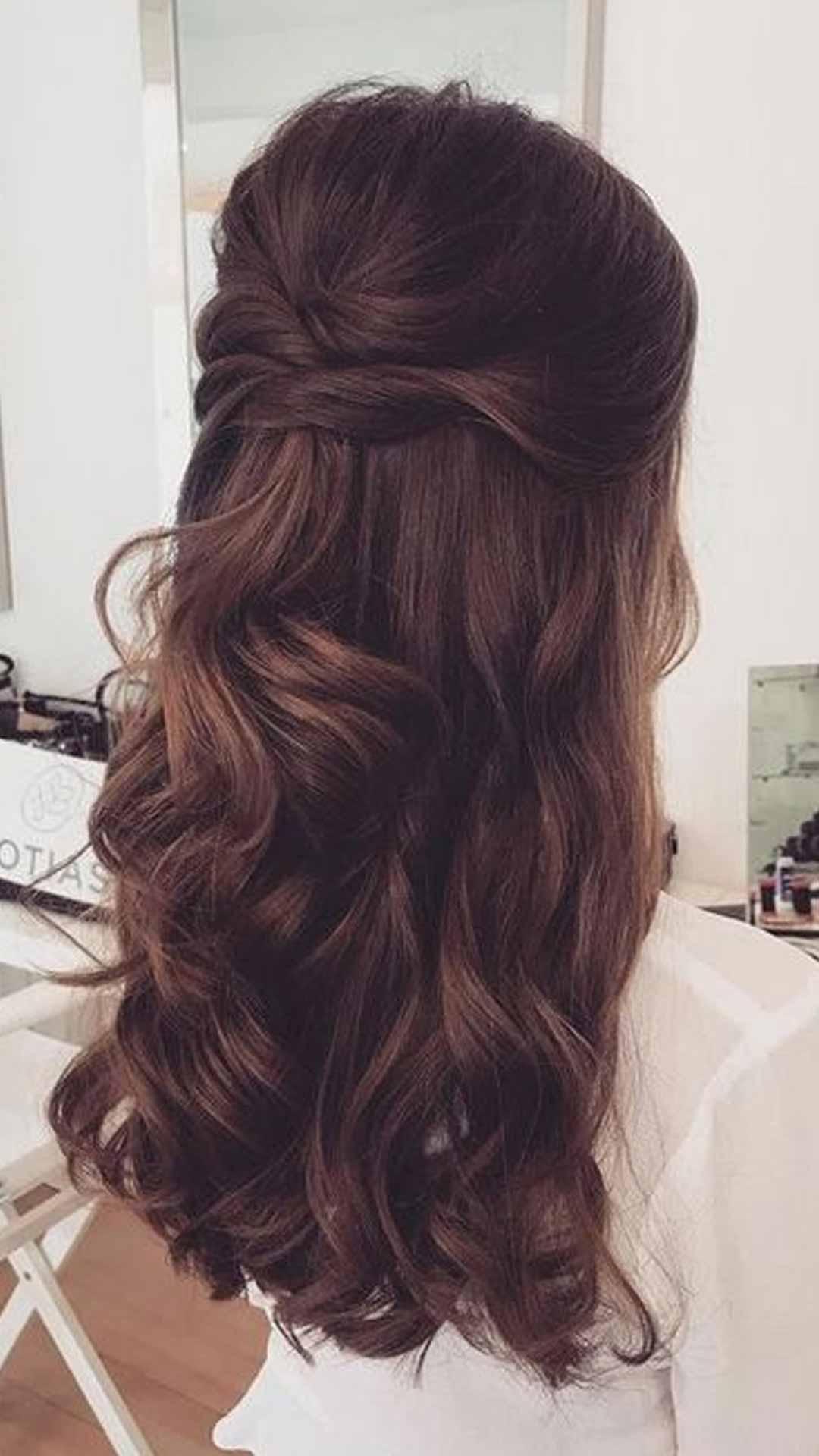 Half-tied hair