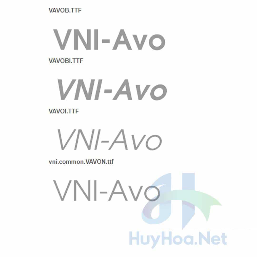 Font VNI-Avo hay vni avo