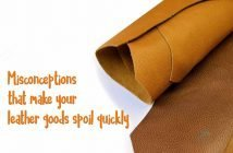 Misconceptions about leather goods