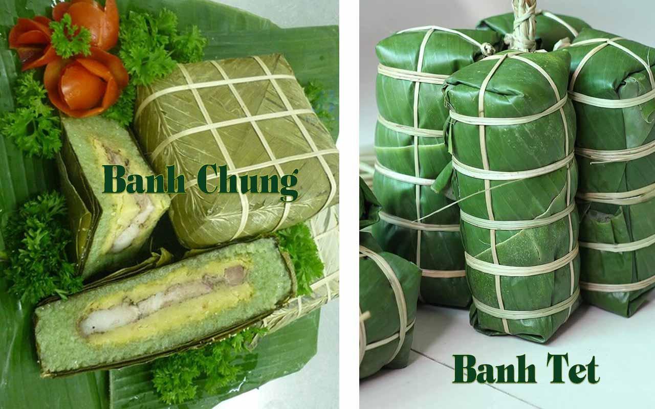 difference between Banh Chung and Banh Tet