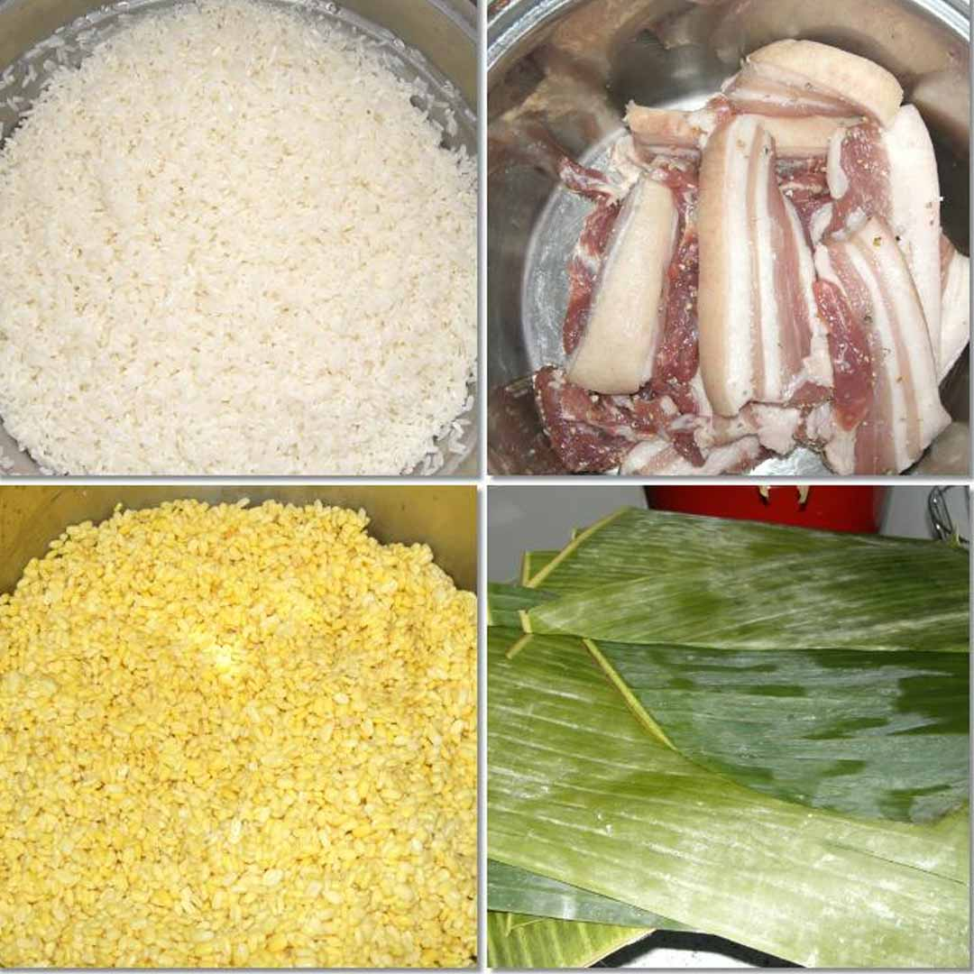 ingredients in a banh chung cake