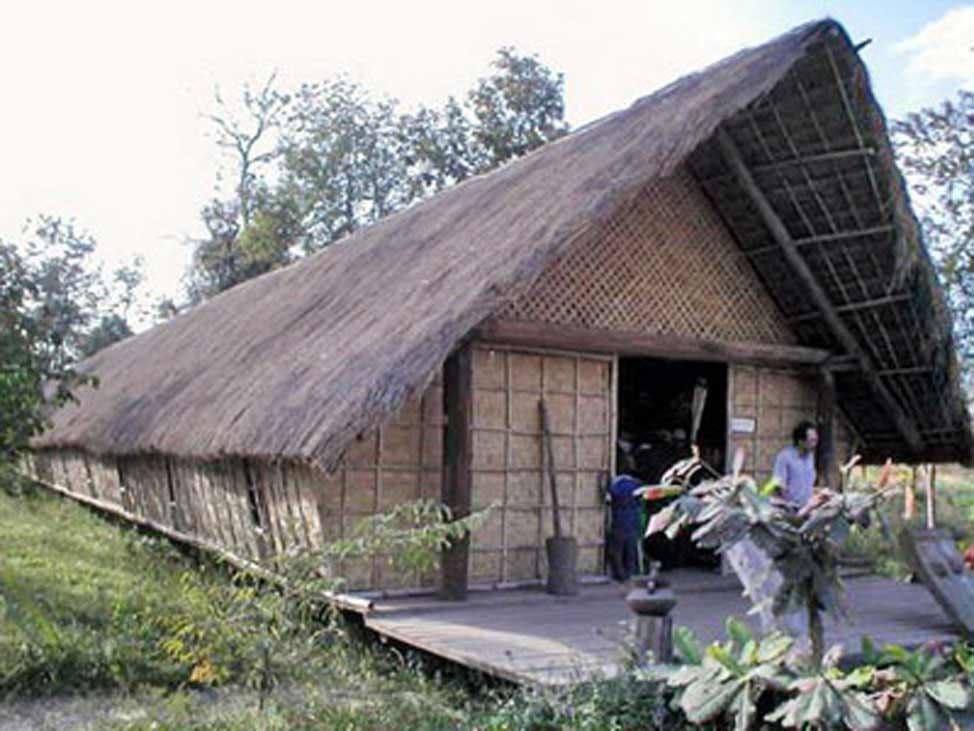 Longest of long house of Ede ethnic group in Giang Lanh village, Krong Na commune, Daklak province's Buon Don District.