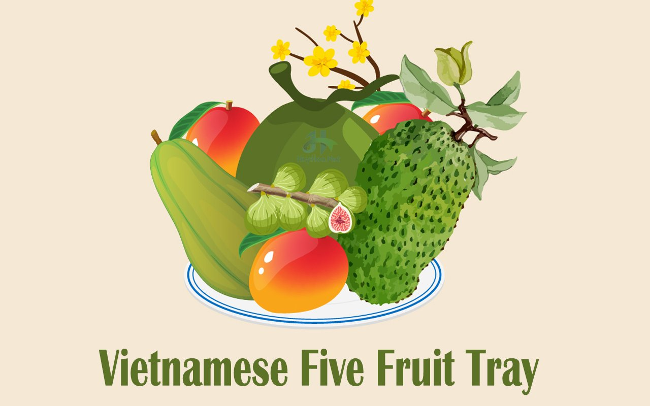 vietnamese five fruit tray
