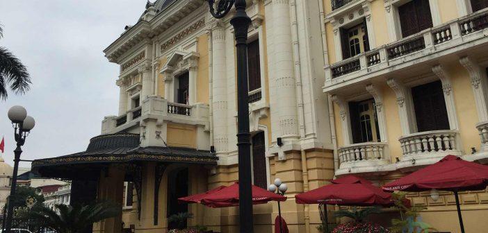 Side view of Hanoi Opera House - Nhà hát lớn Hà Nội