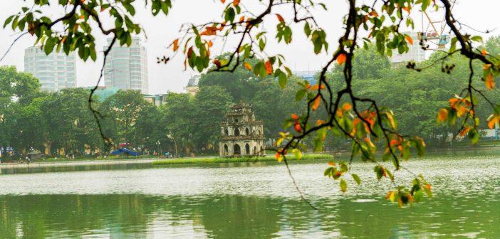 The Turtle Tower, Hoan Kiem Lake, Hanoi