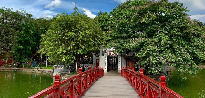 The Huc Bridge - The way come to Ngoc Son temple