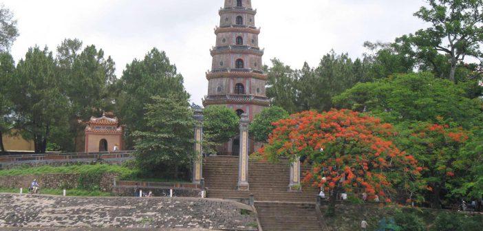 Thien Mu pagoda- Beautiful feature on the Huong river