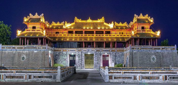 Hue citadel palace complex is located on the North bank of Huong River (Perfume River), inside Hue city