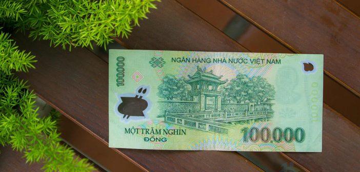 Khue Van Cac in Van Mieu-Quoc Tu Giam in One hunder VND