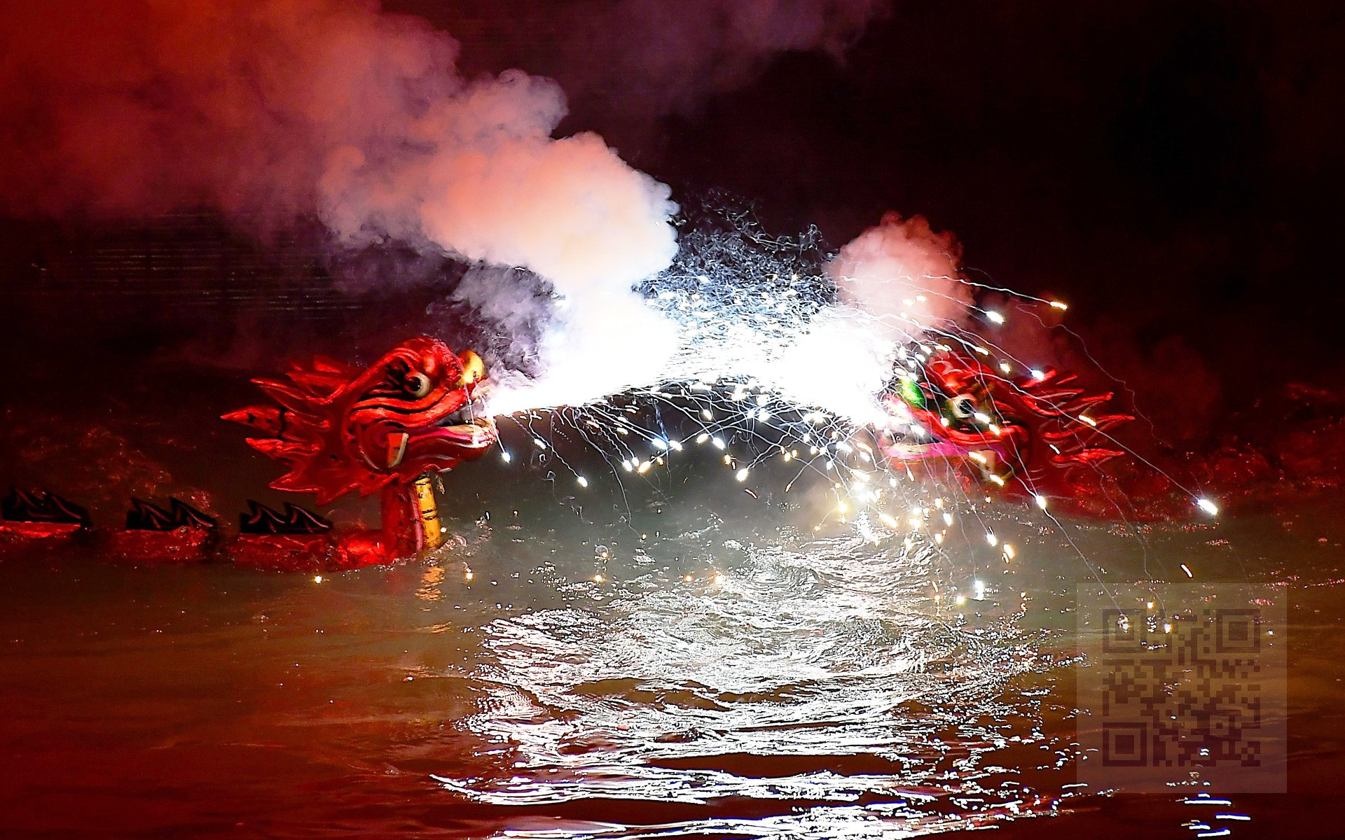 Dragons Fire - Water Puppet performance in Hanoi