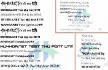 Bộ font chữ viết tay việt hóa