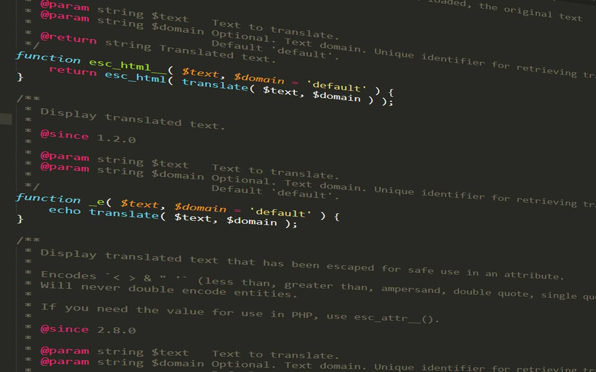 Hướng dẫn sử dụng hàm esc_html__() trong WordPress