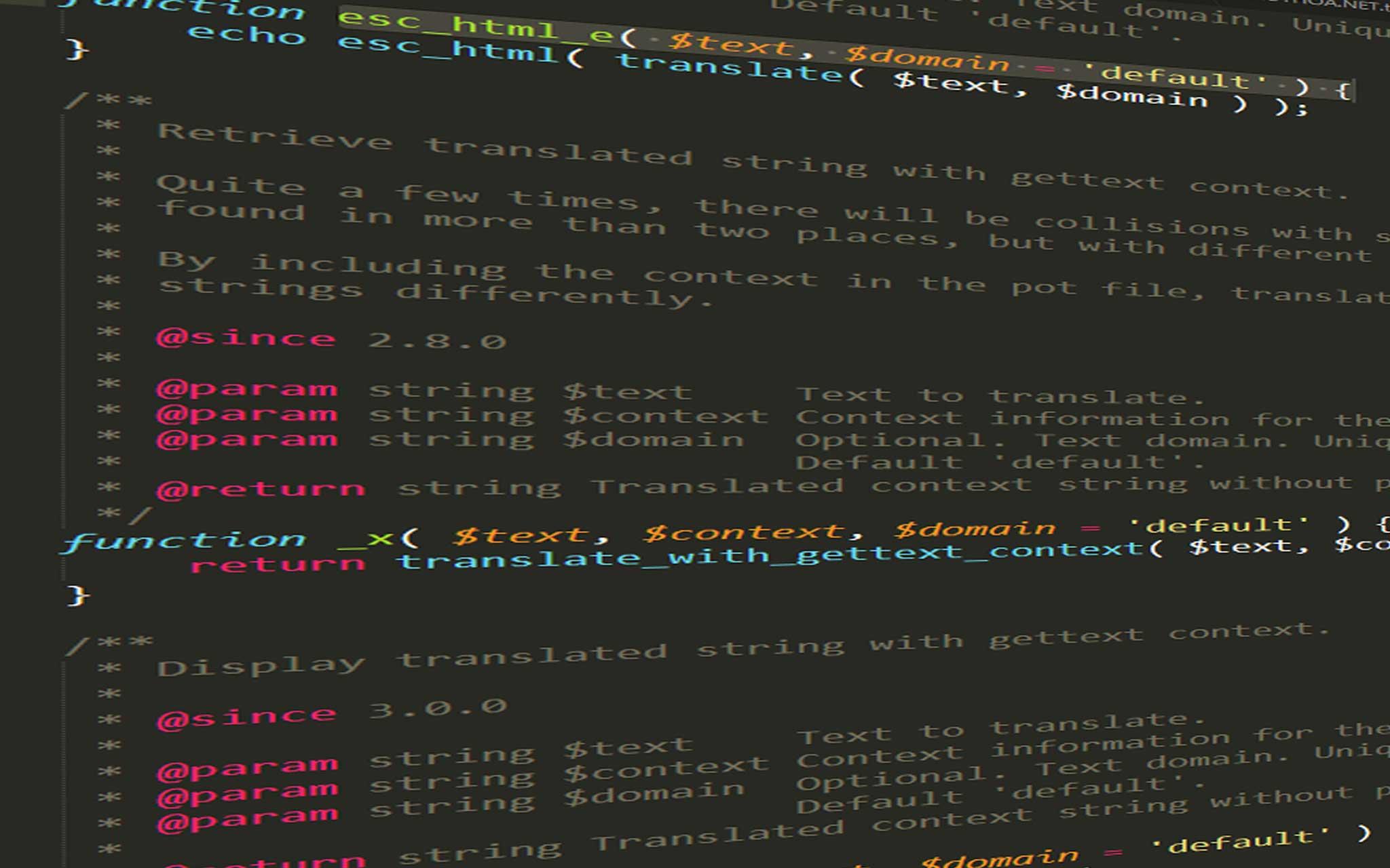 Hướng dẫn sử dụng hàm esc_html_e() trong WordPress