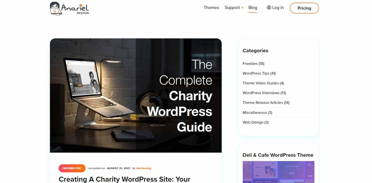 Anariel Design: Build Your Dream WordPress Site