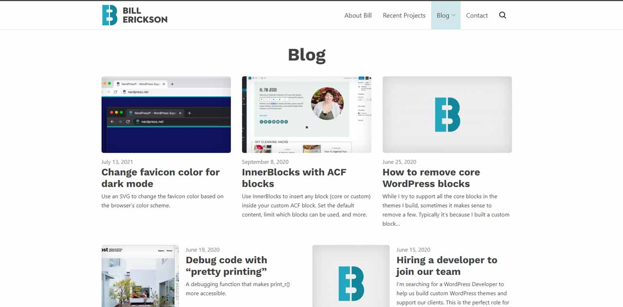 Bill Erickson's blog is one of the must-read blogs for WordPress developers