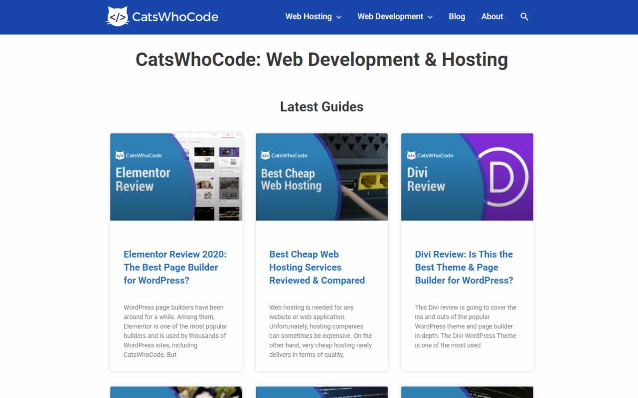 CatsWhoCode: Web Development & Hosting Blog