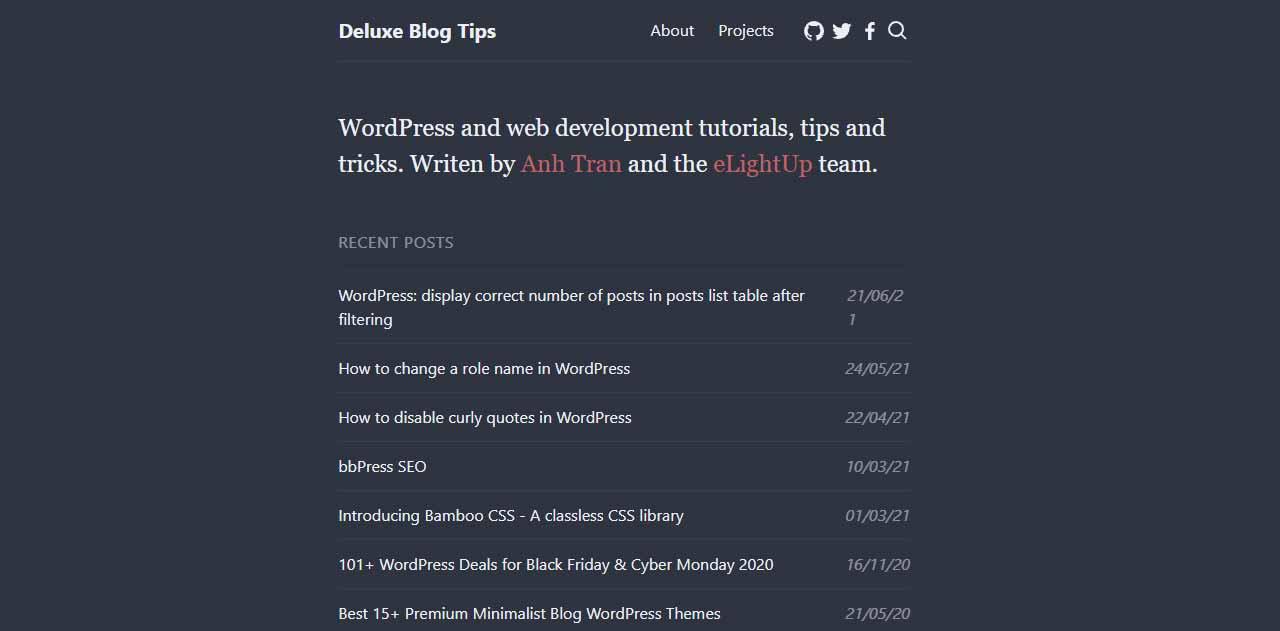WordPress and web development tutorials, tips and tricks