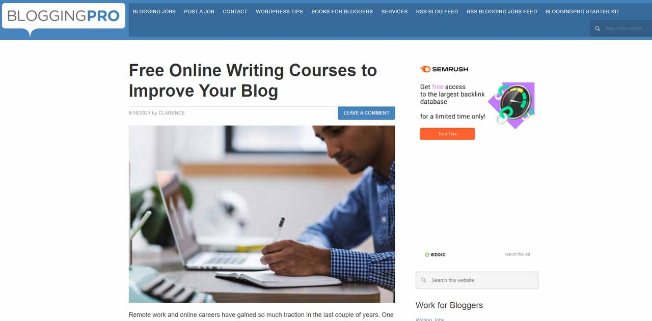 BloggingPro - News, plugins and themes for blogging applications