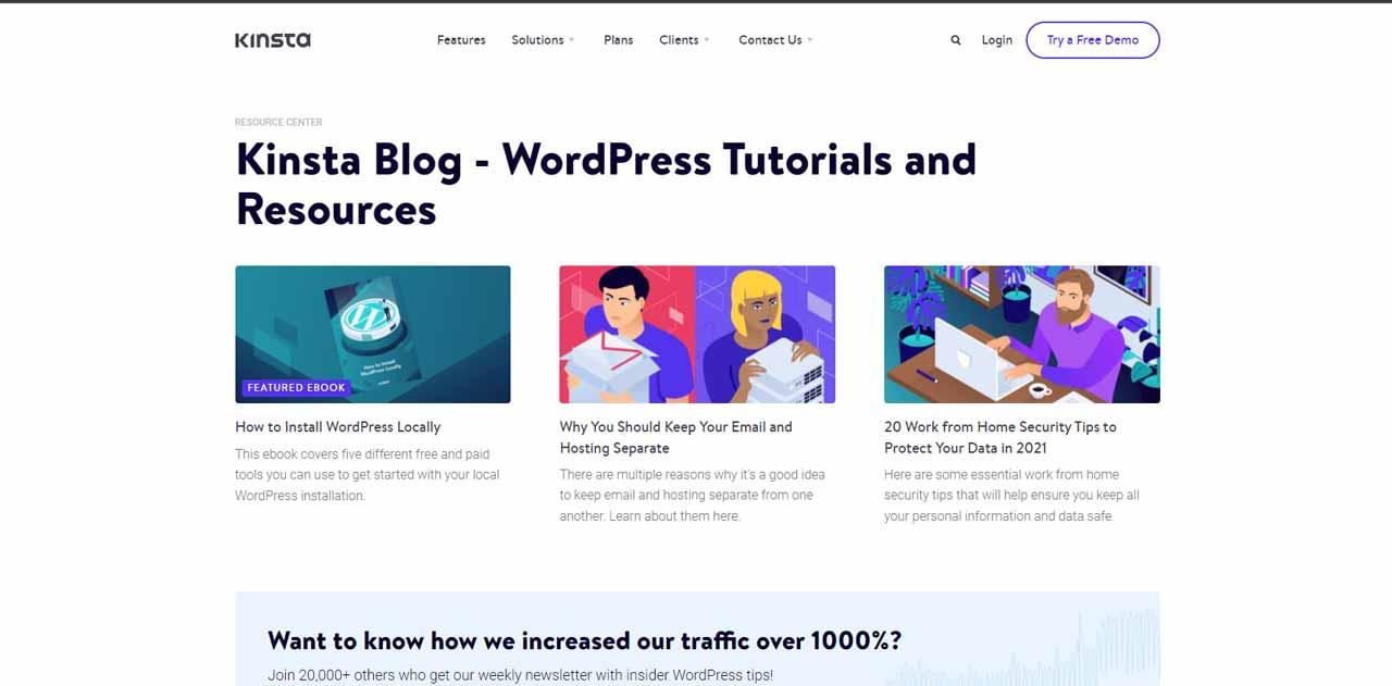 Kinsta Blog - WordPress Tutorials and Resources